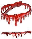 LGTMハロウィンゾンビネックレスチョーカーブレスレットセット衣装仮装おもしろ雑貨グッズ血のネックレス+ブレスレット