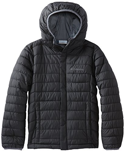 Columbia Big Boy's Powder Lite Puffer Outerwear, black, Small (Down Jacket Kids compare prices)