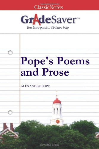 pope s poems and prose an essay on man epistle i summary and  pope s poems and prose by alexander pope · buy study guide