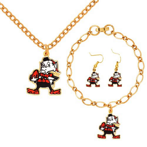 NFL Cleveland Browns Jewelry Set