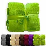 XXL Decke Glory | uni apfelgrün | super weich | 2 Größen und 8 Farben verfügbar | 150x200cm
