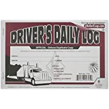 J.J. Keller 8525 Deluxe Driver's Daily Log Book with Detailed DVIR