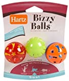 ❏ Hartz Bizzy Ball Toy for Cats 3 Ct (Pack of 3) Total 9 Balls ❏