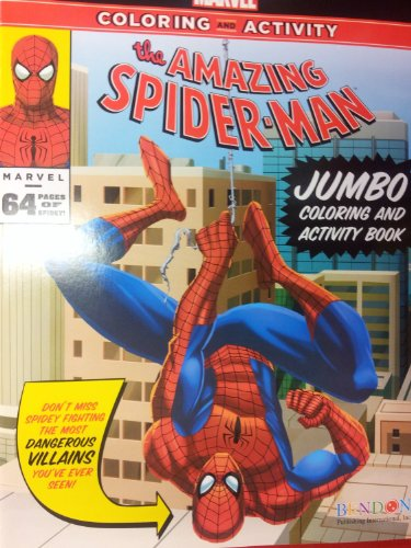 The Amazing Spiderman Jumbo Coloring and Activity Book (64 Pgs)