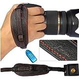 First2savvv Lynda Professional Wrist Grip black genuine leather hand Strap for Nikon D7000 D90 D5100 D5000 D3100 with card reader