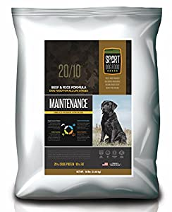 SportDogFood Maintenance Dog Food, Beef Formula, 50-Pound