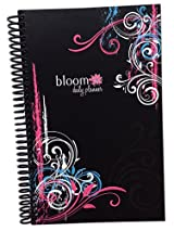 2015 Calendar Year bloom Daily Day Planner Fashion Organizer Agenda January 2015 Through December 2015 Black Swirls
