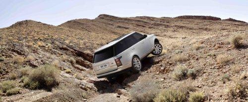 """Land Rover Range Rover (2013) Car Art Poster Print On 10 Mil Archival Satin Paper Dunes White Rear Side Tilt View 20""""X15"""""""