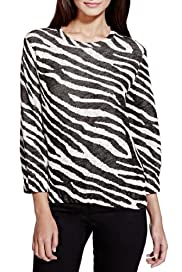 Limited Edition Zebra Print Top [T69-9050J-S]