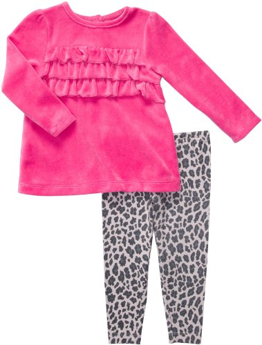 Carter'S Infant Two Piece Pant Set - Hot Pink-3 Months front-1029532