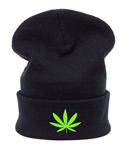Berretto Primavera Jersey Beanie Beanies I love weed ganja Leaf canabis 420 Bad hair day ASAP