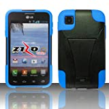 ToPerk T-Stand Dual Layer Armor Case With Kick Stand For LG Optimus Dynamic 2 / L39C?(Include a ToPerk ? Stylus... by ToPerk