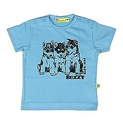 Buzzy Baby-Boys' Cotton T-Shirt (LT.Blue,6-9M)