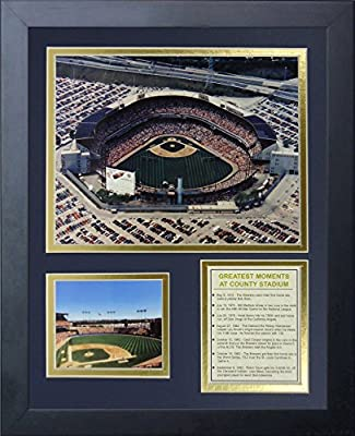 "Legends Never Die ""Milwaukee Brewers County Stadium"" Framed Photo Collage, 11 x 14-Inch"