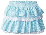 Hartstrings Girls 2-6X Cotton Seersucker Check and Eyelet Ruffle Skort