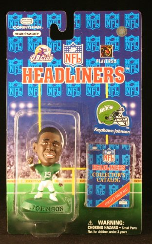 KEYSHAWN JOHNSON / NEW YORK JETS * 3 INCH * 1997 NFL Headliners Football Collector Figure - 1