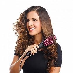 Krevia Amazing Simply Straight Ceramic Brush Hair Straightener
