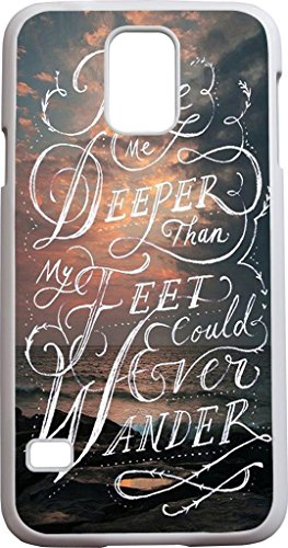 Take Me Deeper Than My Feet Could Ever Wander - Sea And Clouds - Bible Verse Bible Quote Christian Verses Pattern Theme Printing Protective Cover Protetor Sleeve Case For Sumsung Galaxy S5 Sv front-992055