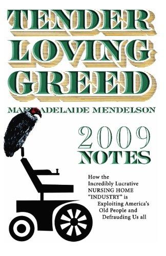 Tender Loving Greed - 2009 Notes