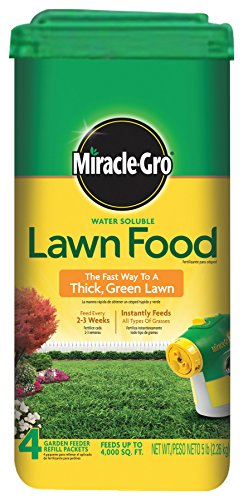 Miracle-Gro Lawn Food (Water Soluble Lawn Fertilizer) - 5 lbs (Not Sold in MD, NJ)