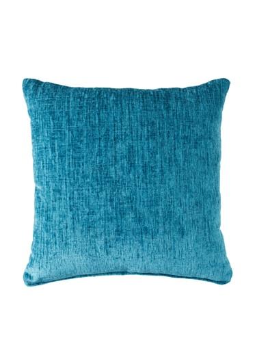 "Eaton Solid Knife Edge 19"" Pillow Modern Contemporary Design Decorative Pillow (Teal)"