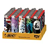 BIC Full Size Limited Special Edition Disposable Lighters Assorted Styles (10) (Color: Assorted, Tamaño: Full Size)