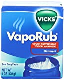 Vicks Vaporub Cough Suppressant Topical Analgesic Ointment 6 Oz (Pack Of 2)