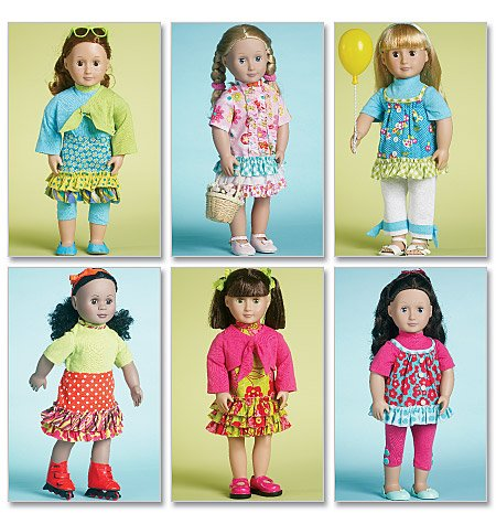 "Mccalls M6370 18"" (18 Inch) Doll Clothes - 6 Outfits ~ Sewing Pattern / Fits American Girl Dolls front-942053"