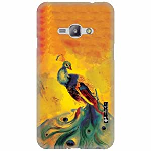 Printland Back Cover For Samsung Galaxy J1 Ace - Silicon Peacock Designer Cases