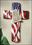 11.5 Inches High God Bless Our Troops Patriotic Wall Cross Pledge of Allegiance American Flag