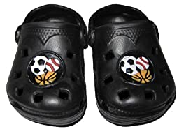 Infant Toddler Black Sports Clogs - 6-12 Months [3010]