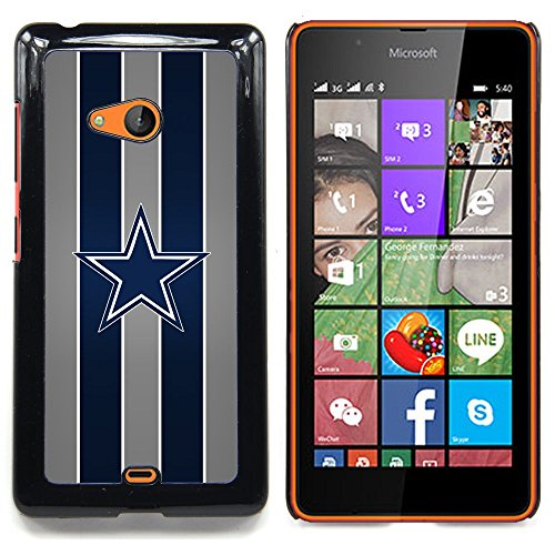 SUPERSPGECELL GIFT CASE / Luxus Telefon-Kasten Hülle Harte Schutzhülle PC Handyhülle / Hard Case for Nokia Lumia 540 / COLTS NFL /Dallas Cowboy Football