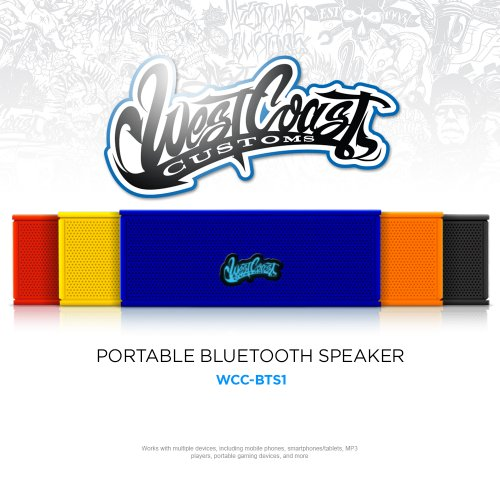 West Coast Customs Portable Wireless Bluetooth Speaker. Bulit in speakerphone and 8 Hour Battery. полуботинки west coast цвет коричневый