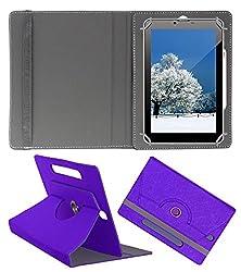 Acm Designer Rotating Case For Videocon Va81m Stand Cover Purple
