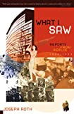 What I Saw: Reports from Berlin 1920-1933
