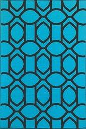 Mad Mats® Cirus Indoor/Outdoor Floor Mat, 4 by 6 Feet, Turquoise Brown