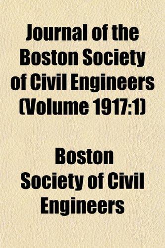 Journal of the Boston Society of Civil Engineers (Volume 1917: 1)