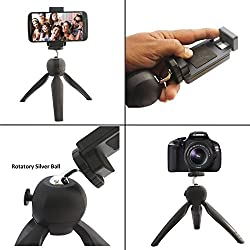 Cell Phone Tripod, DMG Mini Adjustable Tripod Stand with Universal Mount for Digital Camera Go Pro iPhone Mobiles and Selfie Sticks
