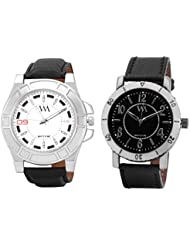 Watch Me MULTI Combo Set Of 2 Analogue Watches Gift For MEN WMAL-109W-75B