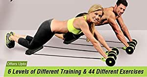 CONNECTWIDE Slim Flex Multilevel Double-Wheeled Rope Exerciser