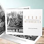 Weihnachtskarten Online Kaufen, Schnee & Eis 40 Karten, Horizontale Klappkarte 148x105 inkl. weiße Umschläge, Braun