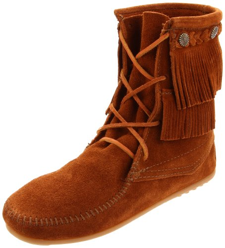 Minnetonka Women's Ankle Hi Tramper Boot,Brown,6 M US