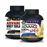Advance Whey Isolate Protein 1kg Vanilla& ADVANCE 100% WHEY 25gm Protein Per 33gm 1kg Vanilla (Combo Offer)