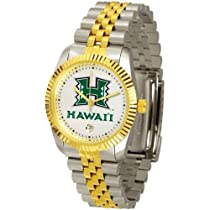 "Hawaii Rainbows NCAA Mens ""Executive"" Watch (2-Tone Stainless Band)"