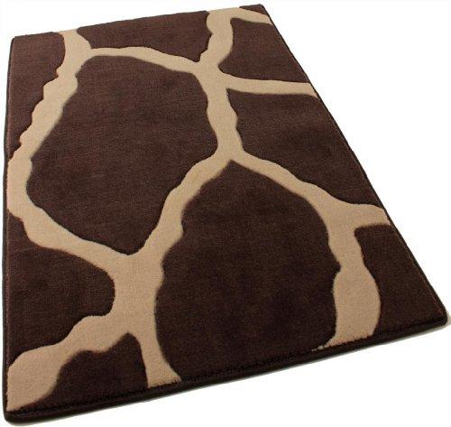 Exotic Giraffe Print Wool Area Rug (Expresso, 4' x 6')