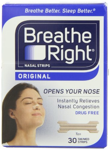 Breathe Right Nasal Strips, Small/Medium, Tan,
