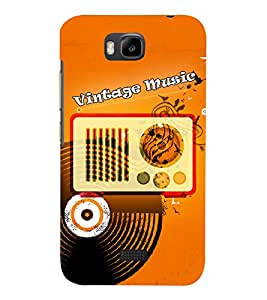 Radio Record Music 3D Hard Polycarbonate Designer Back Case Cover for Huawei Honor Bee :: Huawei Y5C