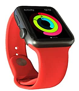Sport Band for Apple Watch, Red (42mm)