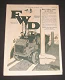 1919 PRINT AD F-W-D Trucks, The Four Wheel Drive Auto Co of Clintonville, Wisconsin, Art Illustration, McClelland Barclay Artist, Original Vintage Magazine Advertisement / Collectible Paper Ephemera