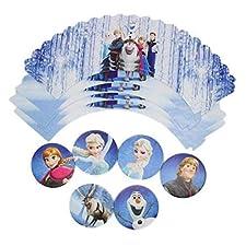 Disney's Frozen CA notebookbits azul helado acentos 6 x envolturas de la magdalena y los primeros 6 x